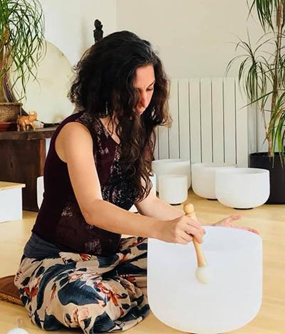 Formation sonothérapie institut Padma Lucie Gautier Belfer bol de cristal
