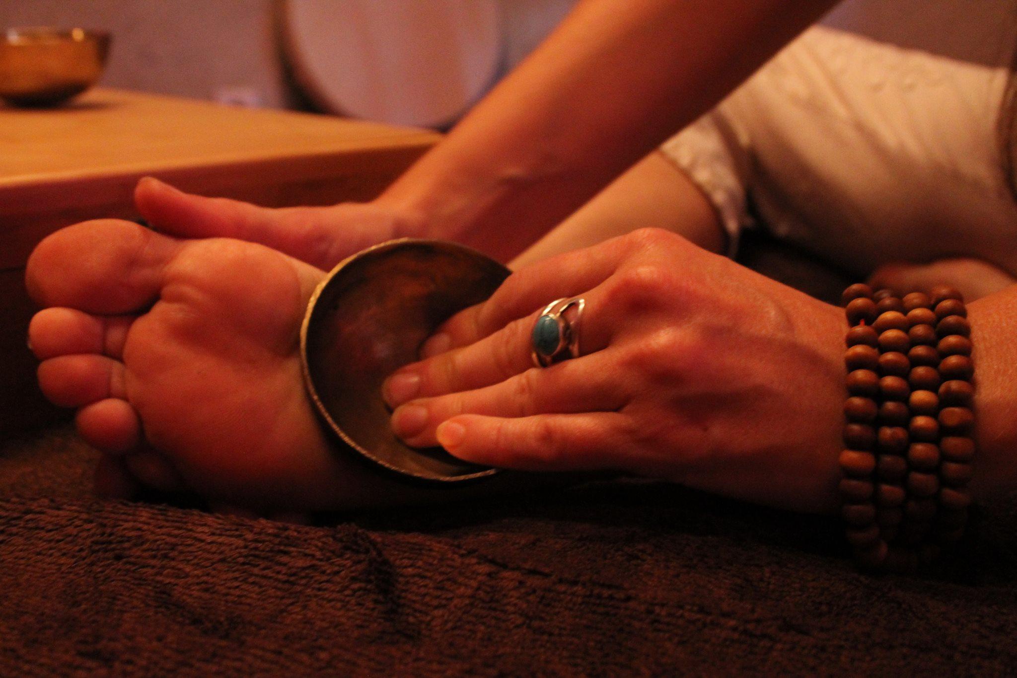 Stage de formation massage des pieds au bol kansu à l'institut Padma